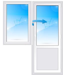 Дверь с глухим окном