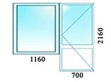 Оконный блок (дверь с окном)